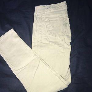 Abercrombie kids low rise khaki skinny jeans